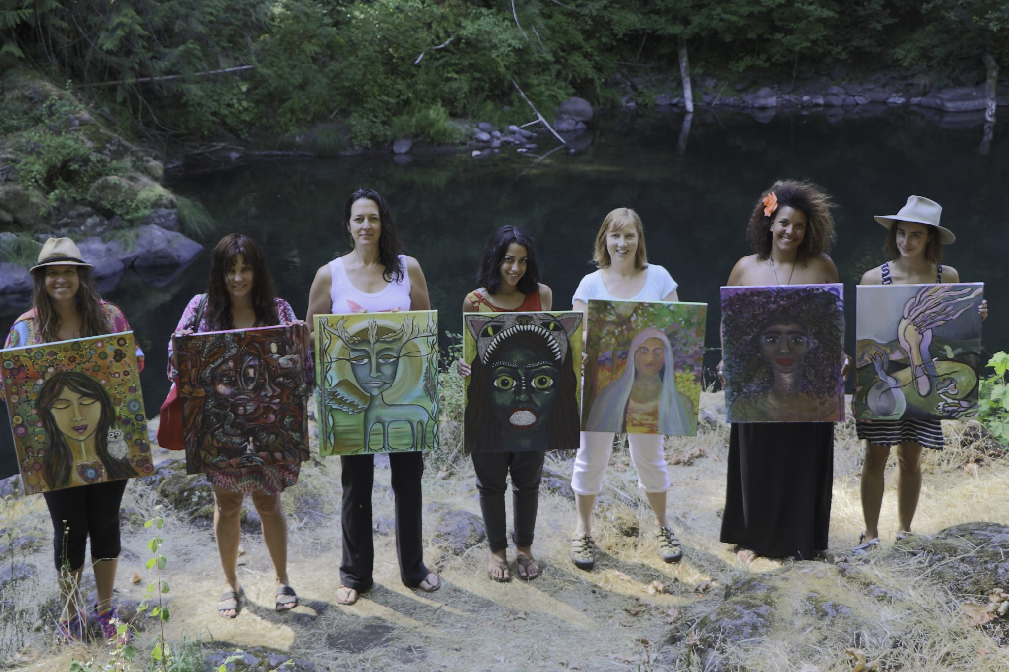 In Their Eyes-Women's Art Collaboration-7-27-15-photo by Ian Rowan